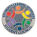 Students Leading Students Student Council Colorful Glitter Pin