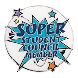 Super Student Council Member Pin