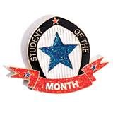 Student of the Month Award Pin - Glitter Star and Ribbon
