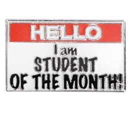 Award Pin - Hello, I am Student of the Month