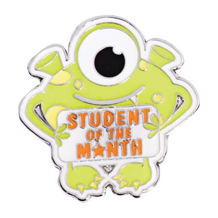 Award Pin - Student of the Month Monster