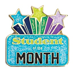 Student of the Month Award Pin - Starburst