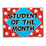 Student of the Month Award Pin - Red/White/Blue