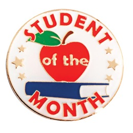 Student of the Month Apple Pin
