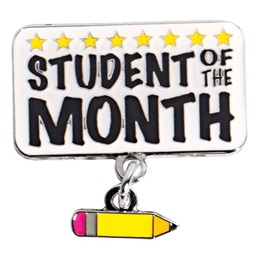 Student of the Month Pencil Dangler Pin