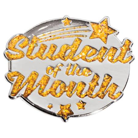 Glitter Student of the Month Pin