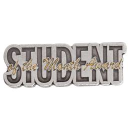 Pewter and Gold Student of the Month Award Pin