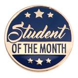 Student of the Month Award Pin - Gold Stars Banner