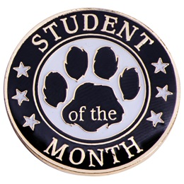 Student of the Month Award Pin - Paw and Stars