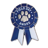 Field Day Award Pin - Ribbon Paw