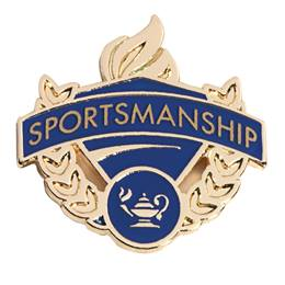 Sportsmanship Award Pin - Blue/Gold