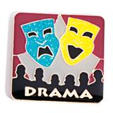 Drama Award Pin - Glitter Masks