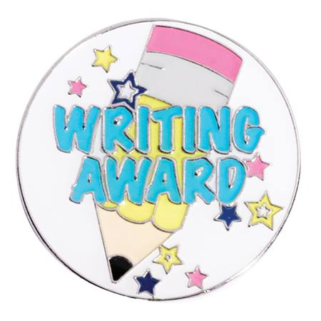 Award Pin - Writing Award Pencil With Stars