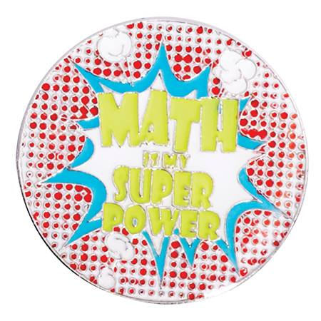 Award Pin - Math is My Super Power