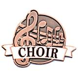 Brushed Metal Choir Pin