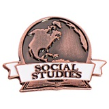 Brushed Metal Social Studies Pin