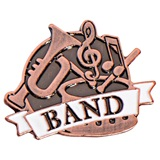 Brushed Metal Band Pin