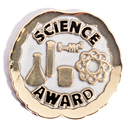 Science Award Pin - Silver and Gold