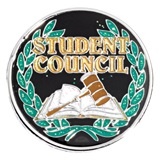 Award Pin - Student Council Glitter