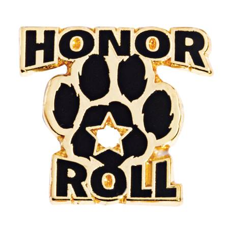 Award Pin - Honor Roll Paw and Star