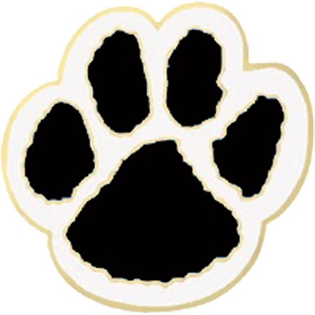 Award Pin - Black and White Paw