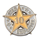 Ten-Year Star Employee Pin