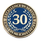Gold Laurel 30 Years Service Award Pin