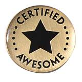 Certified Awesome Pin