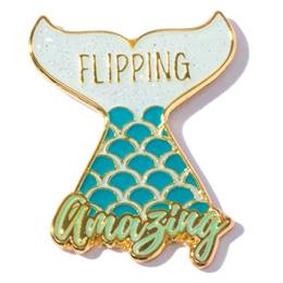 Appreciation Award Pin - Flipping Amazing Glitter Mermaid