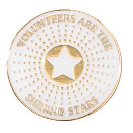 Volunteers are the Shining Stars Pin