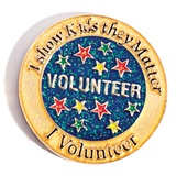 Volunteer Award Pin - Glitter I Show Kids They Matter