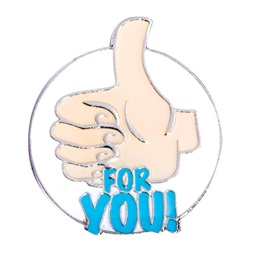 Award Pin - Thumbs Up for You