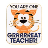 Award Pin - One Grrr-eat Teacher Tiger