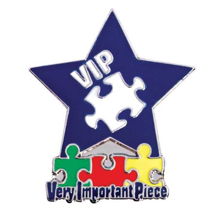 Award Pin - VIP Puzzle and Star