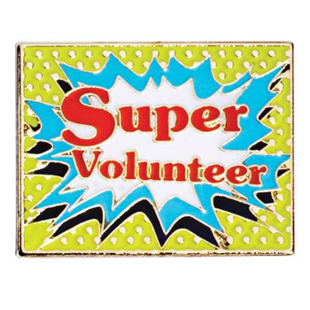 Super Volunteer Award Pin