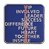 VOLUNTEER Award Pin - Words
