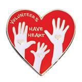 Volunteer Award Pin - Volunteers Have Heart
