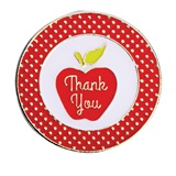Thank You Award Pin - Polka Dot Apple