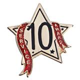 Service Award Pin - 10 Year Star Glitter