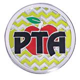 PTA Award Pin - Chevron Apple