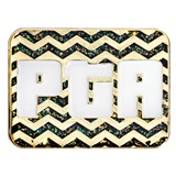PTA Award Pin - Glitter Black and Gold Chevron