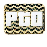 PTO Award Pin - Glitter Chevron