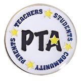 PTA Award Pin - Stars and Words