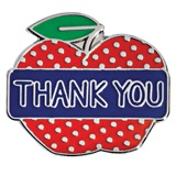 Appreciation Award Pin - Thank You Apple
