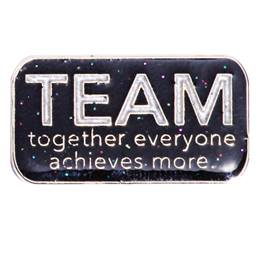 TEAM Award Pin - Glitter Rectangle