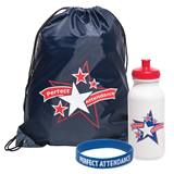 Full-color Backpack Award Set - Perfect Attendance Stars