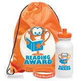 Full-color Backpack Award Set - Reading Trophy