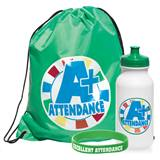 Full-color Backpack Award Set - A+ Attendance