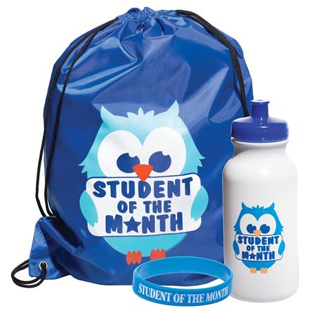 Full-color Backpack Award Set - Student of the Month Owl