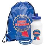 Full-color Backpack Award Set - Perfect Attendance Ribbon